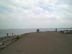 琵琶湖の周りを散歩