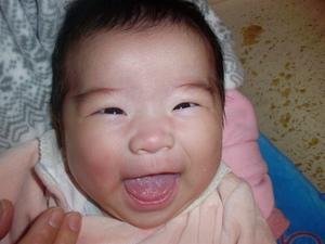 笑い顔の楓